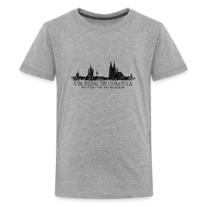 UBI BENE DO ES KÖLLE Skyline (Vintage Schwarz) Köln Teenager T-Shirt - Teenager Premium T-Shirt