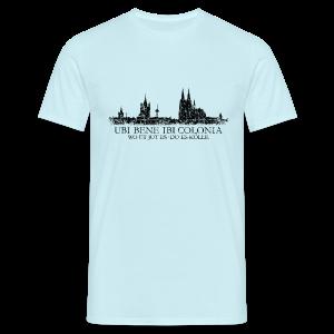 UBI BENE DO ES KÖLLE Skyline (Vintage Schwarz) Köln T-Shirt - Männer T-Shirt