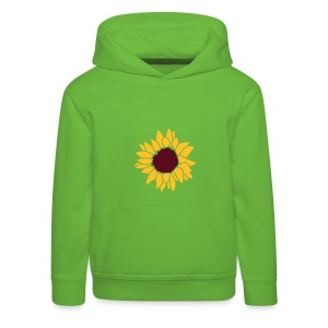 Front: Sunflower , Back: Awareness, Kids-Hoody  (Print: Magenta) - Kinder Premium Hoodie