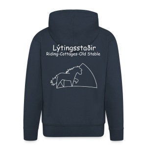 Lýtingsstaðir-Riding-Cottages-Old Stable- hooded pullover - Männer Premium Kapuzenjacke