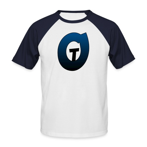 t0nin0t blue and white t-shirt - Men's Baseball T-Shirt