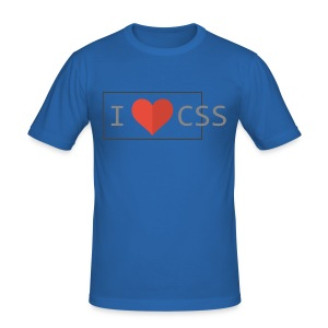 I Love CSS - Men's Slim Fit T-Shirt