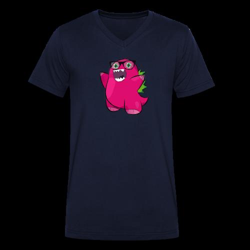 Bozilla - Dino - V-Ausschnitt - Männer Bio-T-Shirt mit V-Ausschnitt von Stanley & Stella