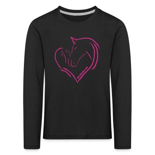 MPS Heart - KIDS Longsleeve (Print: Magenta) - Kinder Premium Langarmshirt