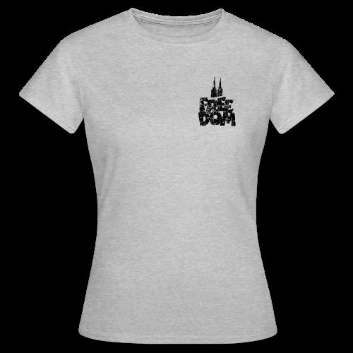 Free Dom (Vintage Schwarz) Köln T-Shirt - Frauen T-Shirt