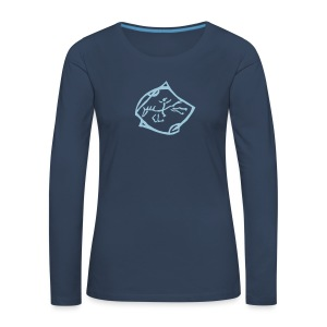 Free Rider - Longsleeve Women (Print: Light Blue Digital) - Frauen Premium Langarmshirt