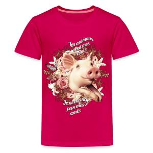 Je ne mange pas mes amis - T-shirt Premium Ado