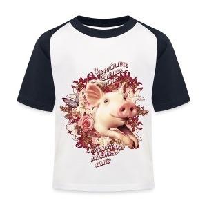 Je ne mange pas mes amis - T-shirt baseball Enfant