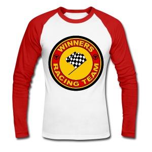 Winners racing team - Men's Long Sleeve Baseball T-Shirt
