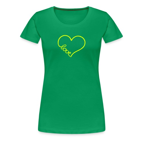love heart 1 T-Shirts - Women's Premium T-Shirt