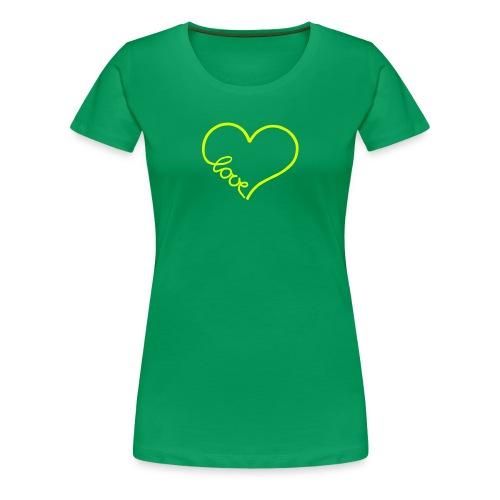 love heart 1 T-Shirts - Women's Premium T-Shirt