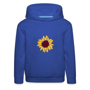 Front: Sunflower , Back: Sunsetrider Up To The Hill, KIDS-Hoody  (Print: Golden Yellow) - Kinder Premium Hoodie