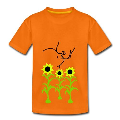 Sunflowers & Closeness, KIDS Shirt  ( Print: Black) - Kinder Premium T-Shirt