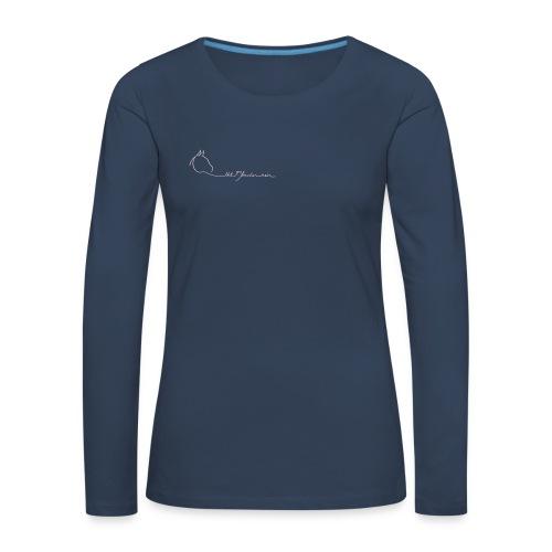 MPS Embrace + Logoschriftzug - Women Longsleeve - Print: Rose (Back and Front) - Frauen Premium Langarmshirt