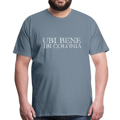 UBI BENE IBI COLONIA (Vintage Weiß) Köln Spruch Römisch - Männer Premium T-Shirt