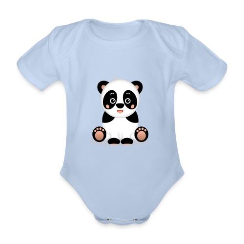 Baby Panda Kiko - Baby Bio-Kurzarm-Body