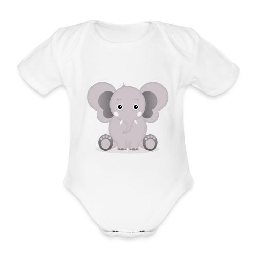 Baby Elefant Elias - Baby Bio-Kurzarm-Body
