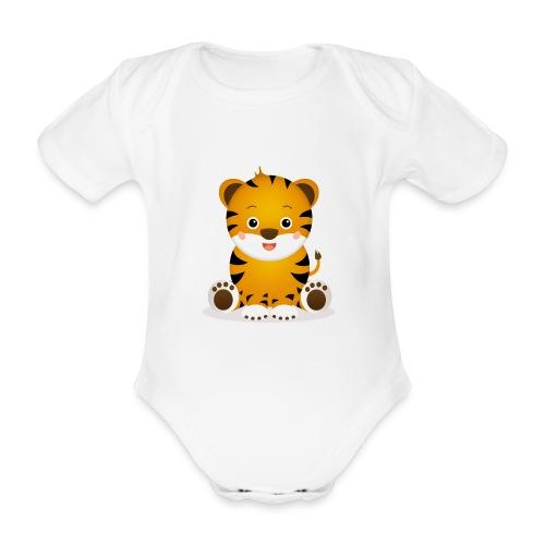Baby Tiger Tim - Baby Bio-Kurzarm-Body