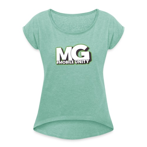 MariusGamer Frauen T-Shirt mit gerollten Ärmeln  - Frauen T-Shirt mit gerollten Ärmeln