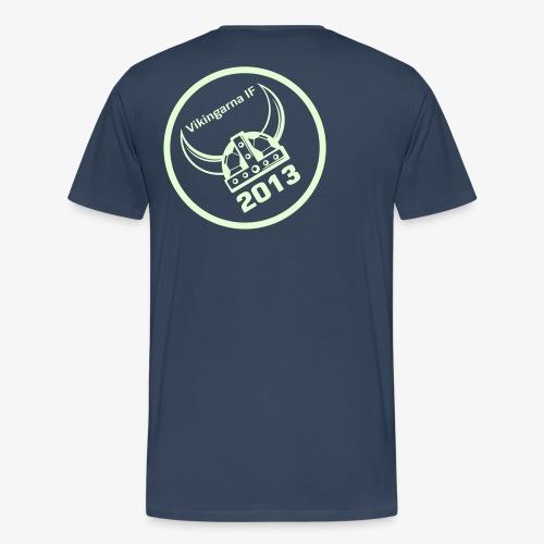 Navn på forside, Glow in the dark logo ryg - Herre premium T-shirt