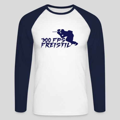 Herren-Baseball-Shirt 300 FPS - Männer Baseballshirt langarm