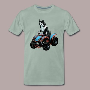 Sheepdog on Quad-bike - Men's Premium T-Shirt