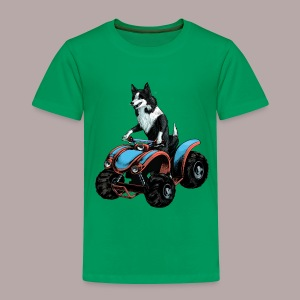 Sheepdog on Quad-bike - Kids' Premium T-Shirt