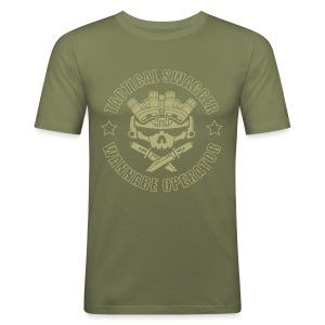 LIGHTS OUT TSWO olive drab - Men's Slim Fit T-Shirt