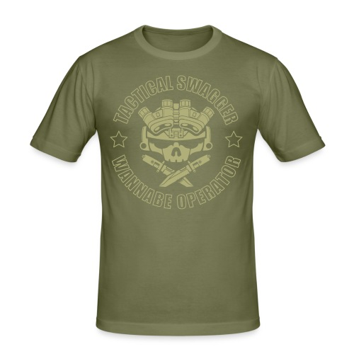LIGHTS OUT TSWO olive drab - Men's Slim Fit T-Shirt