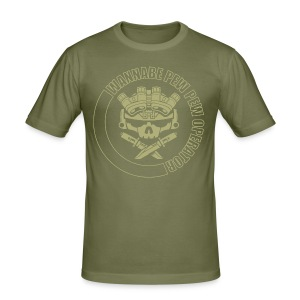 LIGHTS OUT WPPO olive drab - Men's Slim Fit T-Shirt