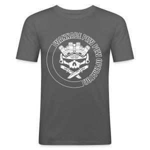 LIGHTS OUT WPPO grey - Men's Slim Fit T-Shirt