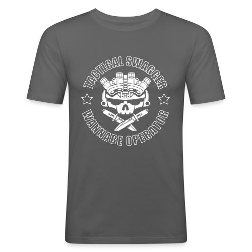 LIGHTS OUT TSWO grey - Men's Slim Fit T-Shirt