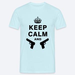 Keep Calm & XxSpeedBullet - Mannen T-shirt