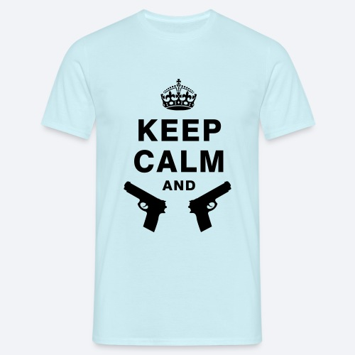 Keep Calm & XxSpeedBullet - Mannen T-shirt