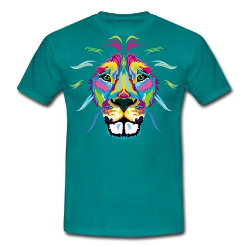 Fresh Colored Lion - Men's T-Shirt