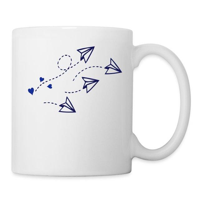 Love Letter Origami Air Planes Art Mug