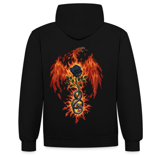 Fire Of The Sages - Contrast Colour Hoodie