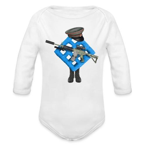 BWAF Soldier Baby Grow - Organic Longsleeve Baby Bodysuit