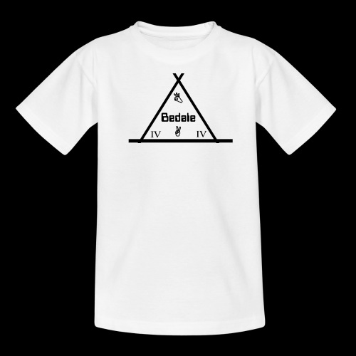 Official Teen's Big Logo Bedale Tee [ White ] - Teenage T-shirt