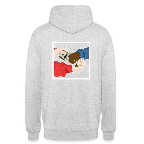 Sweat-shirt à capuche unisexe