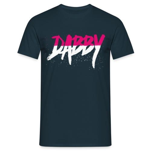 Dabby Split Colour T-shirt (Pink/White) - Men's T-Shirt