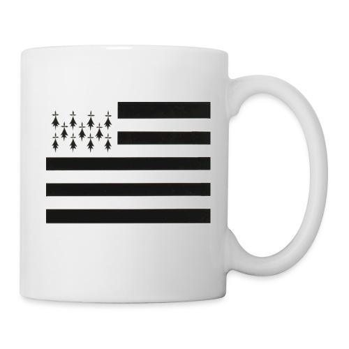 Mug Drapeau Breton droit - Mug blanc