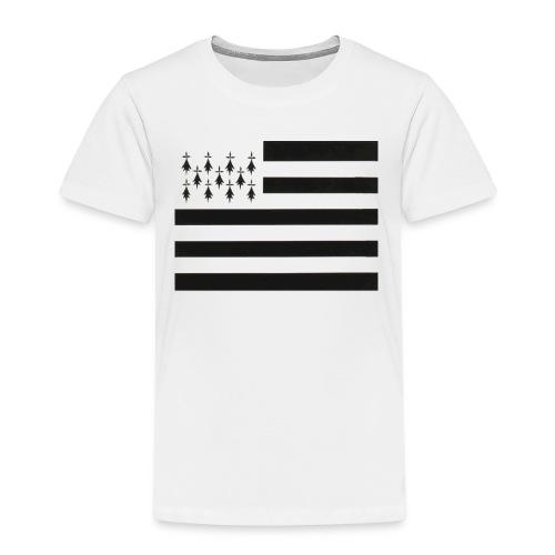 Tee shirt Premium Enfant Drapeau Breton - T-shirt Premium Enfant