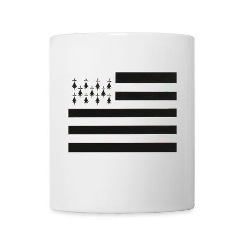 Mug Drapeau Breton Devant - Mug blanc