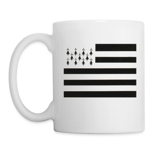 Mug Drapeau Breton Gauche - Mug blanc