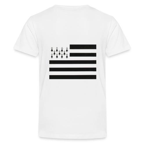 Tee shirt Premium Ado Drapeau Breton - T-shirt Premium Ado