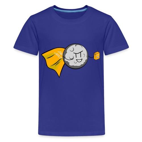 Crappy Werewolf Jokes Caped Moonsader Tee - Teenage Premium T-Shirt