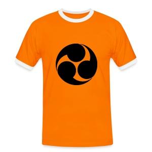 Kobayakawa Mon Japanese clan black - Men's Ringer Shirt