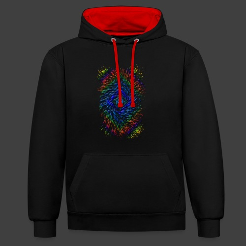 Color Twister - Contrast Colour Hoodie