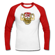 Long sleeve shirts ~ Men's Long Sleeve Baseball T-Shirt ~ Beard Strong